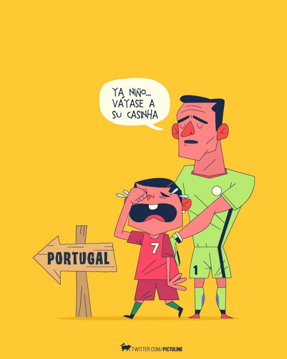 Y portugal de regreso a casa. (Foto: Pictoline)