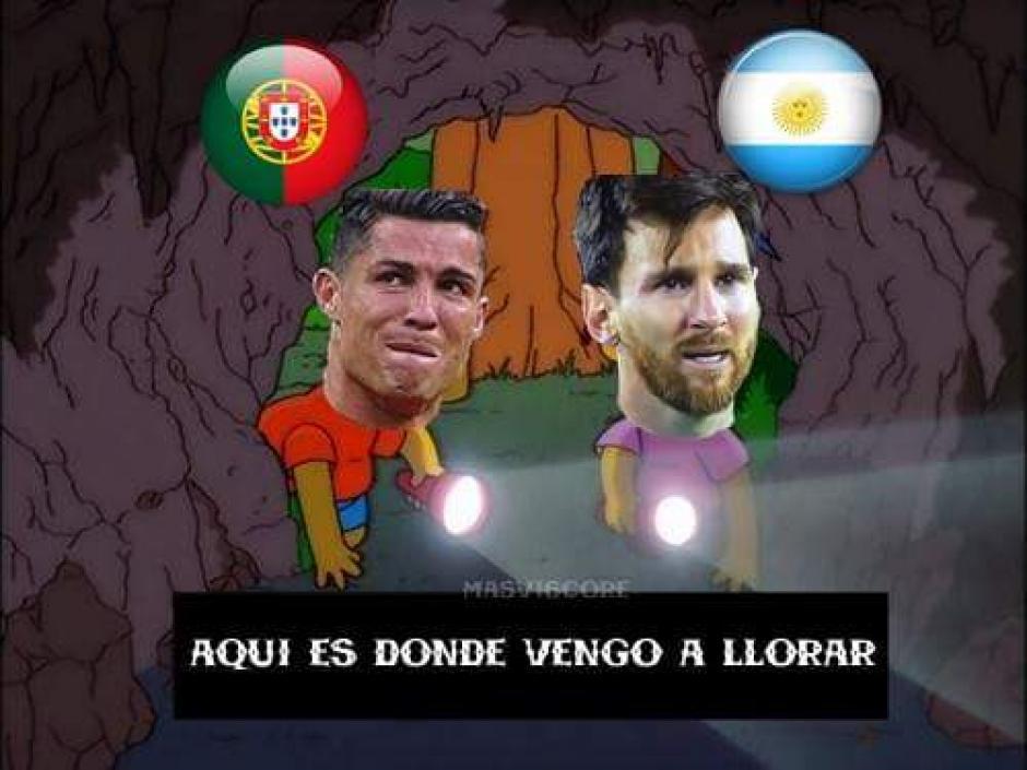 Messi y Cristiano a ver la final de Confederaciones por la TV. (Foto: Twitter)