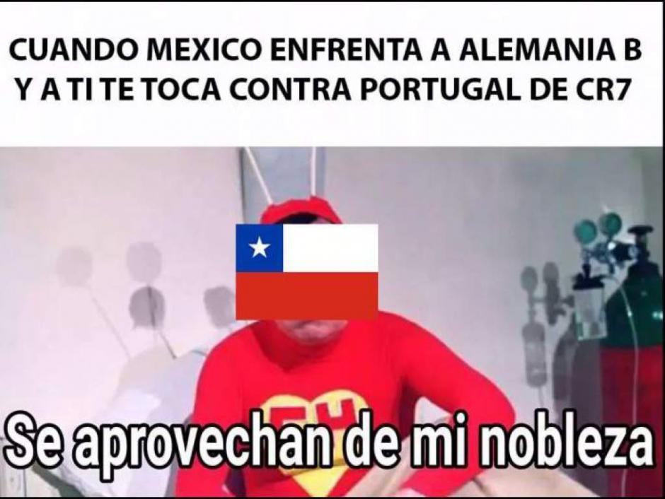 El recuerdo de Chile y el Chapulín Colorado. (Foto: Twitter)