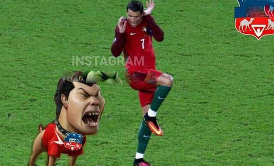 El pitbull de Chile espantó a CR7. (Foto: Twitter)