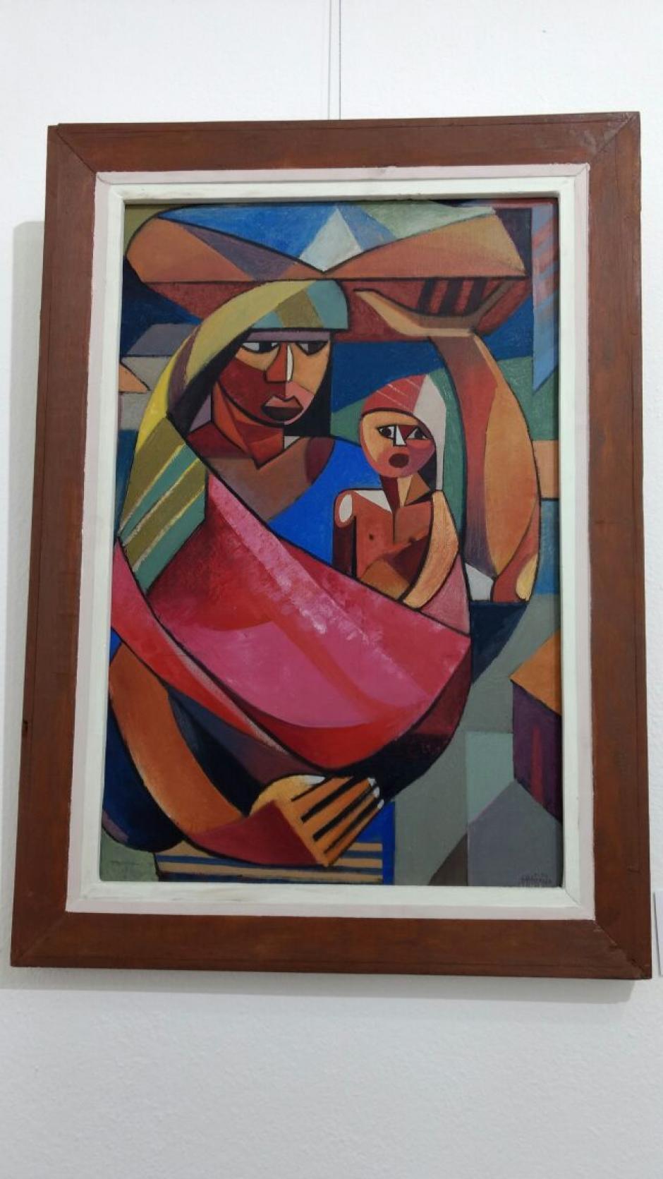 Una de las obras más importantes de la nueva sala fue elaborada por el reconocido artista Víctor Manuel Aragón. (Foto: Juliet Cabrera/Soy502)