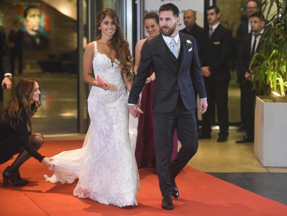 La pareja se casó en Rosario, Argentina. (Foto: AFP)