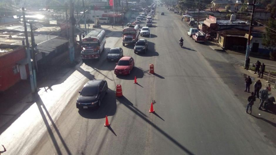 La ruta hacia el Occidente es otro de los puntos con presencia de vehículos. (Foto: Provial)