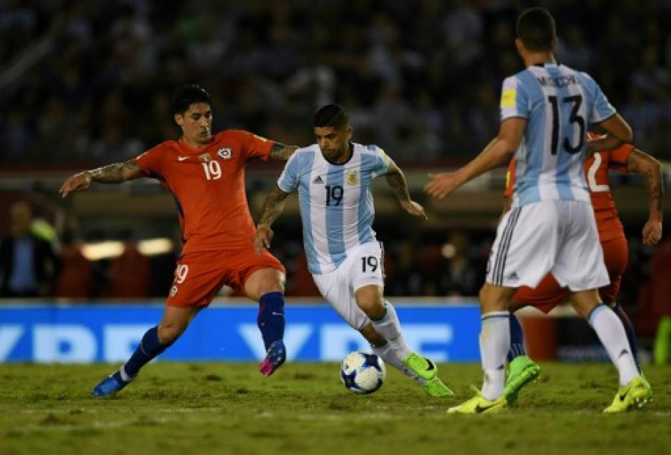 Argentina superó por la mínima a Chile. (Foto: AFP)