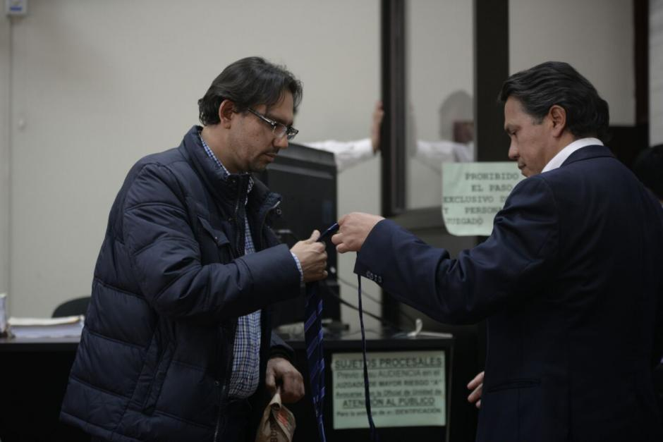 Aleksander Castillo durante la audiencia de primera declaración. (Foto: Wilder López/Soy502)