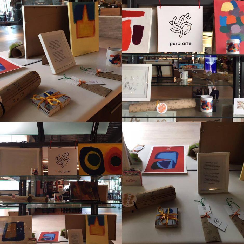 Puro Arte ya tiene un kiosko donde podrá obtener el trabajo de artistas con necesidades especiales. (Foto: Puro Arte)