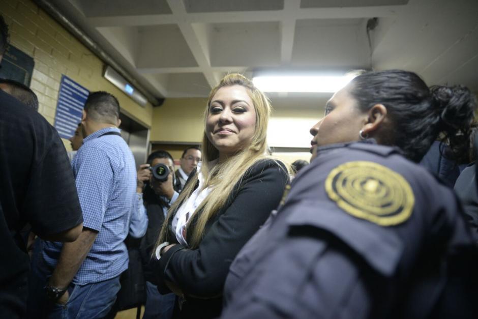 La exdiputada Emilenne Mazariegos también se encuentra en tribunales por un caso de desfalco a una municipalidad. (Foto: Wilder López/Soy502)