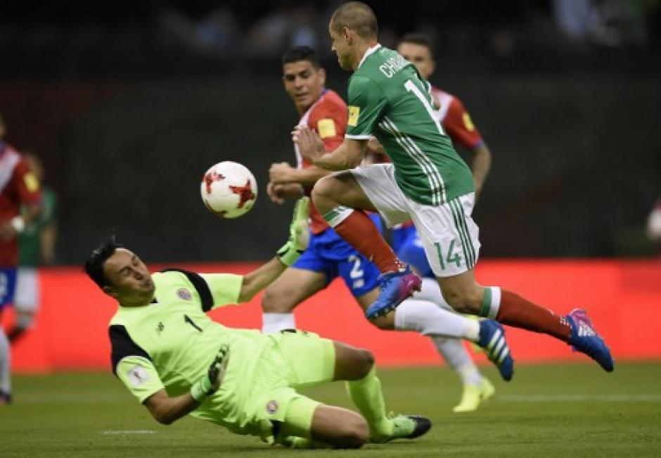 Chicharito  Hernández superó a Keylor Navas. (Foto: AFP)