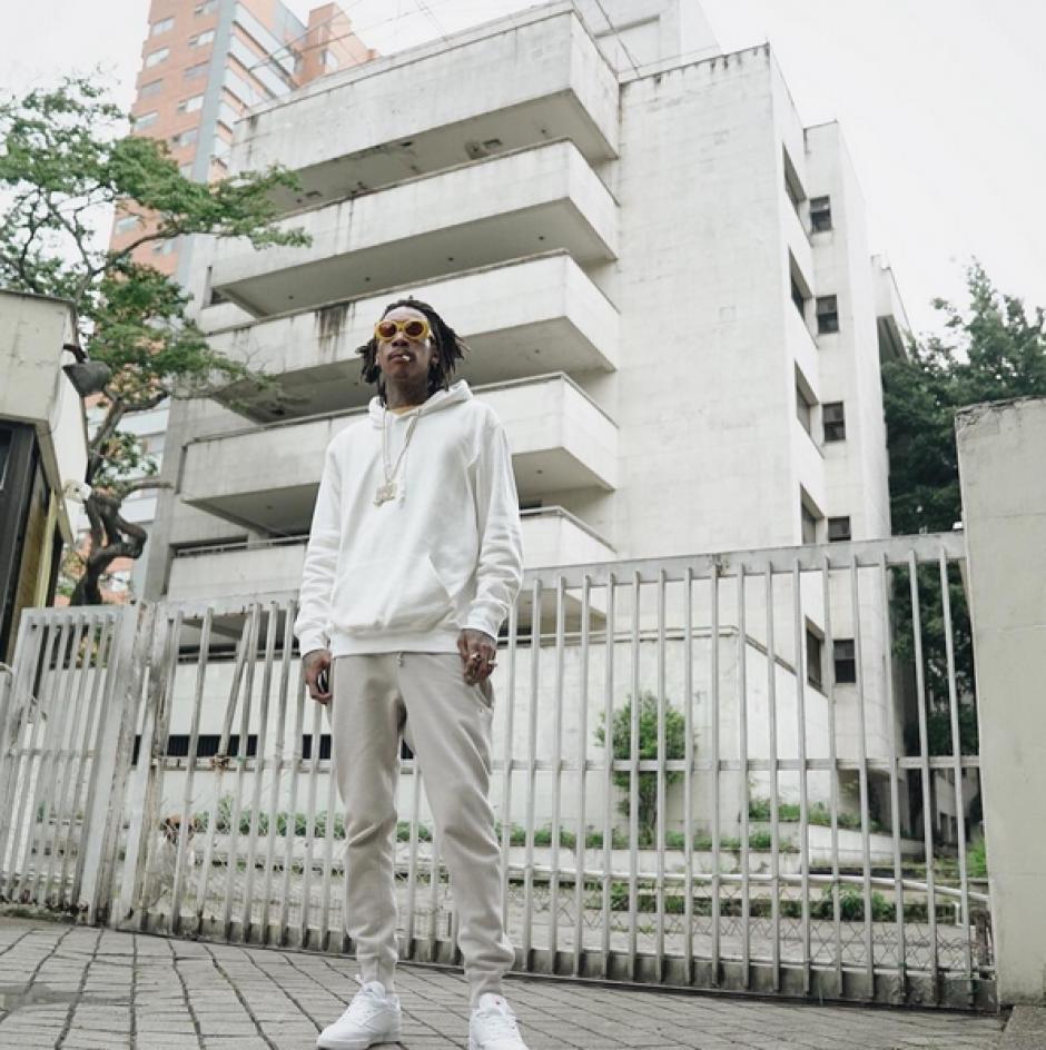 Wiz Khalifa también estuvo en el edificio Mónaco que fue propiedad de Pablo Escobar. (Foto: Instagram)