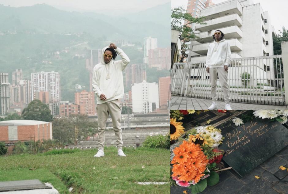 Wiz Khalifa visita la tumba de Pablo Escobar en Colombia. (Foto: Instagram)