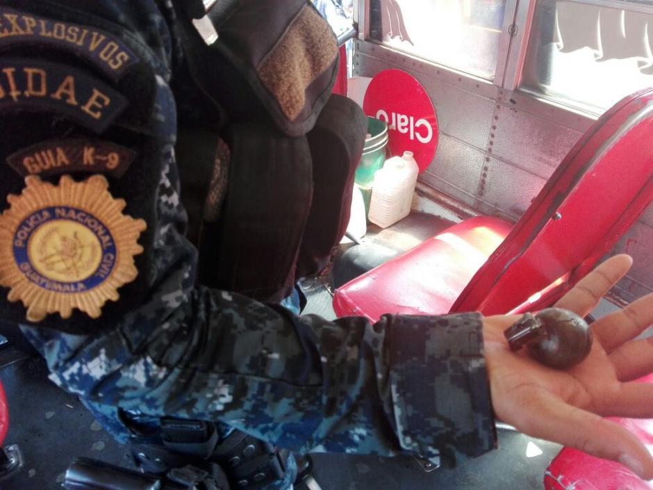 La bomba resultó ser un encendedor como se aprecia en la imagen. (Foto: PNC)