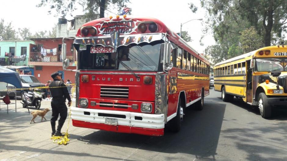 El incidente ocurrió en la colonia Bethania, donde circulan los buses de la ruta 36. (Foto: PNC)