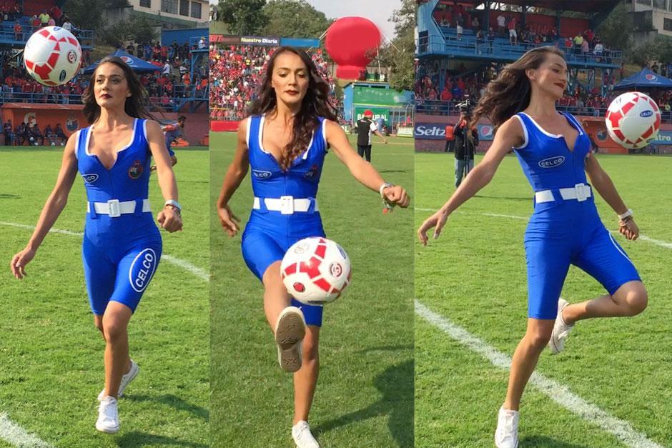"""La bella Kimberly Esquivel muestra su talento para hacer """"tecniquitas"""". (Foto: Soy502)"""