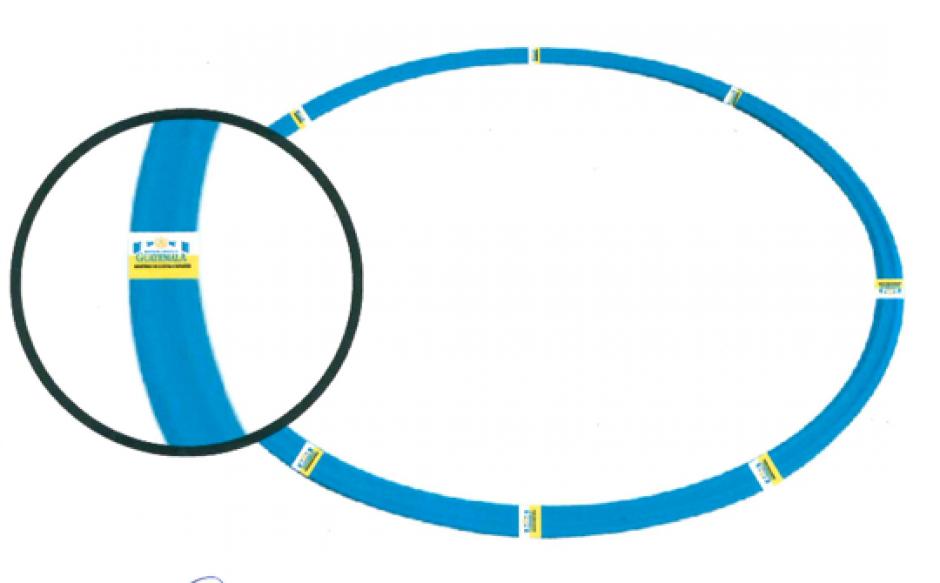 Las hulas deben ser de 72 centímetros de diámetro, de plástico y tener el logotipo del ministerio. (Foto: Ministerio de Cultura y Deportes)