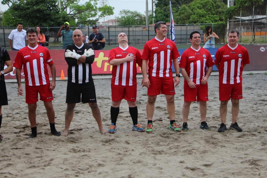MisterChip, Mario Kempes y compañía se robaron el show en Panamá. (Foto: Adán de Gracia/Fepafut)