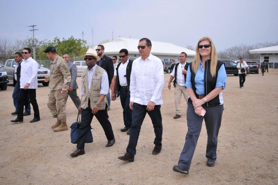 El Gobierno de Estados Unidos realizó la donación del equipo para el área administrativa de la Fuerza de Tarea Chortí. (Foto: MinGob)
