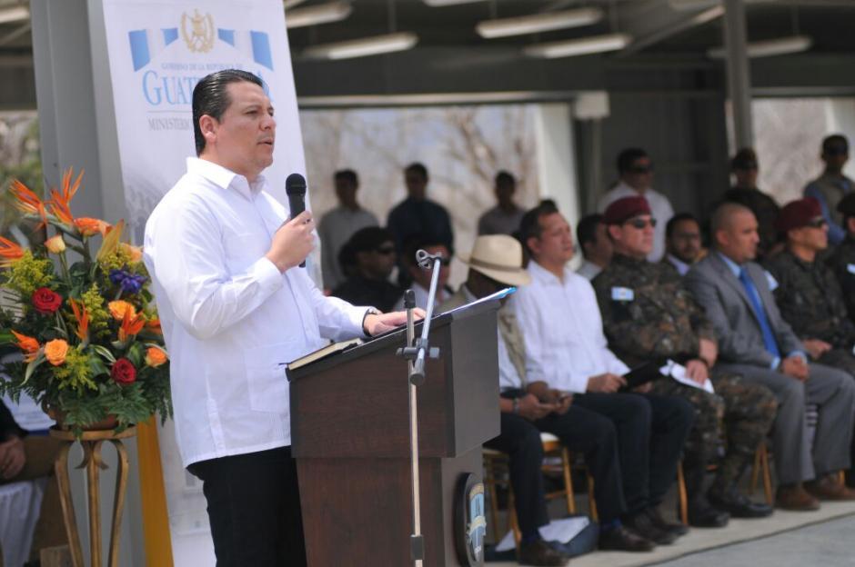 El viceministro de Asuntos Antinarcóticos explicó la importancia de la Fuerza de Tarea Chortí. (Foto: MinGob)