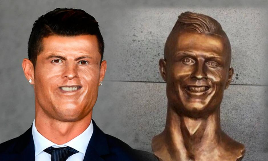 Sin embargo, el delantero del Real Madrid y su estatua fueron objeto de burlas. (Foto: Twitter)