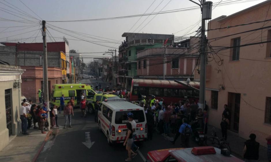 Otro accidente se reportó en el Centro Histórico de la ciudad. (Foto: Nuestro Diario)