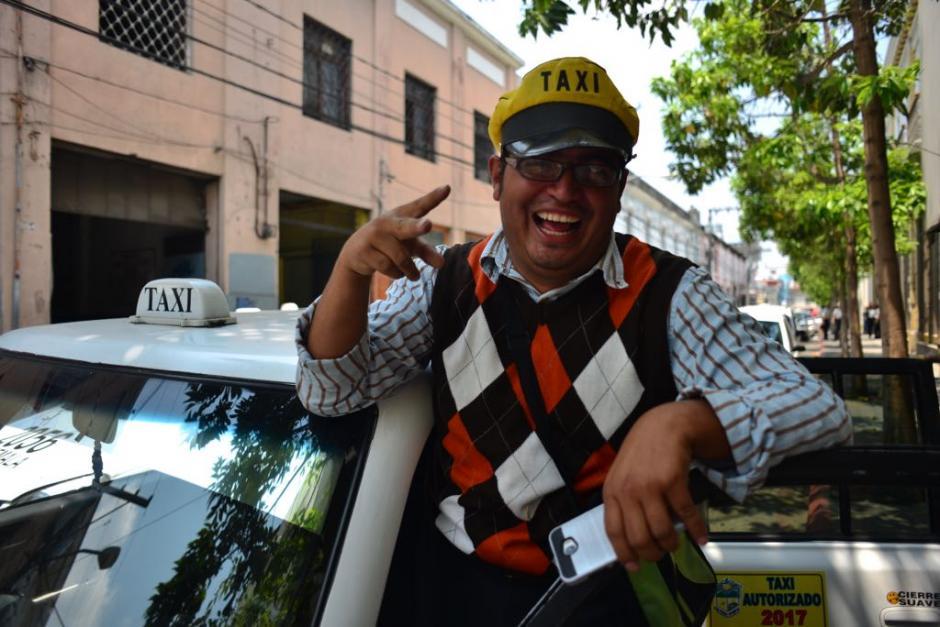 Así se desarrolló la manifestación de los taxistas. (Foto: Jesús Alfonso/Soy502)