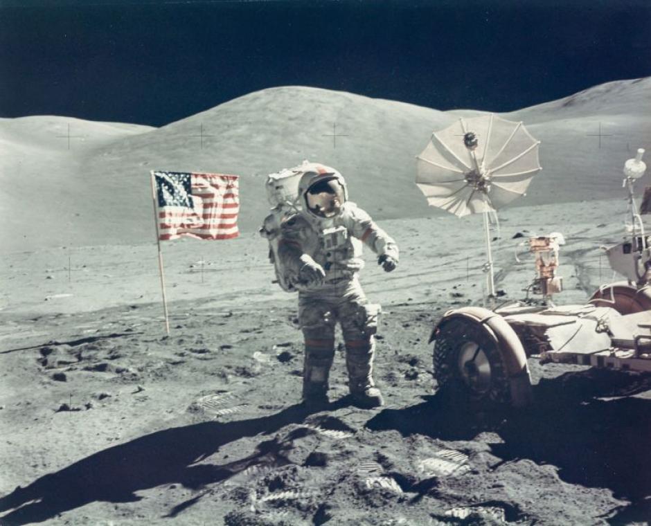 El astronauta Eugene Cernan en la misión Apolo 17 en diciembre de 1972. (Foto: NASA)