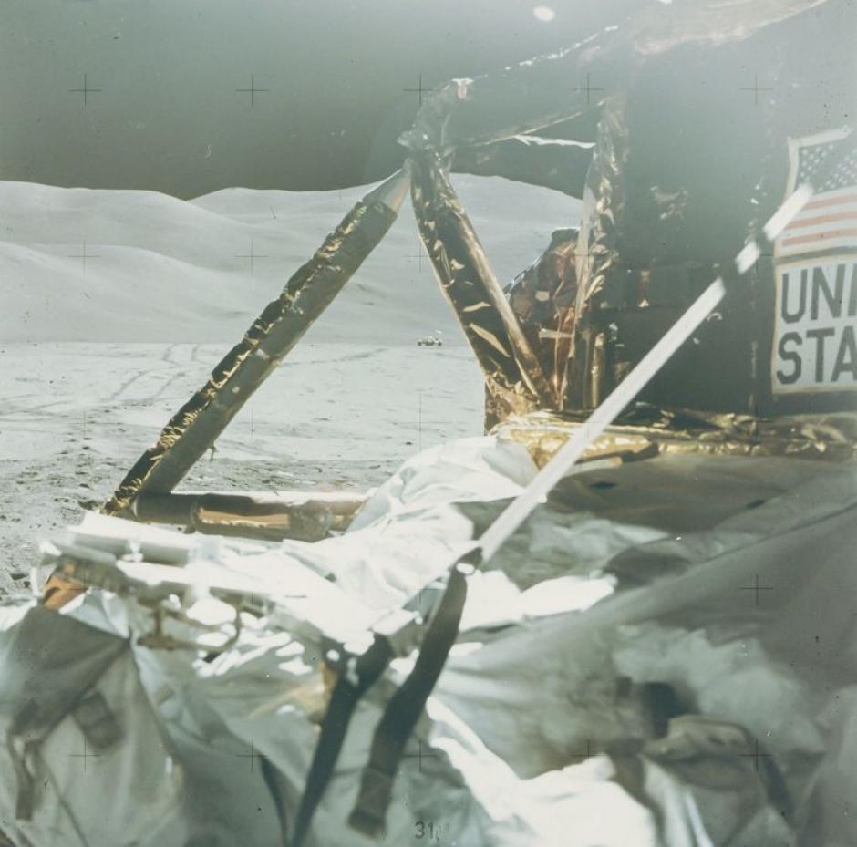 Última foto tomada en la superficie de la Luna durante la misión Apolo 15 en agosto de 1971. (Foto: NASA)