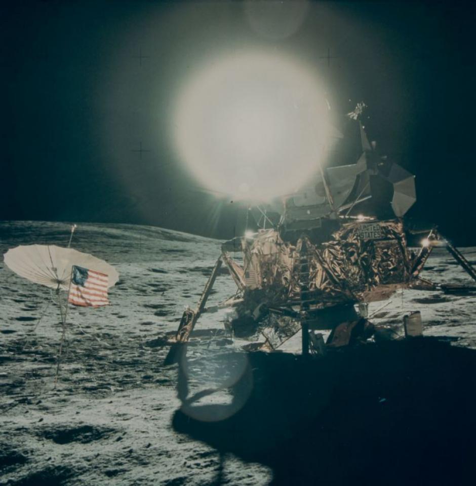 El Módulo Lunar del Apolo 14 en febrero de 1971. (Foto: NASA)