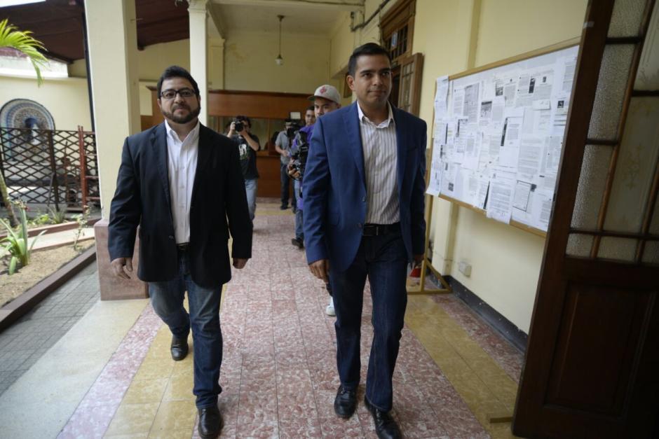 Ronaldo Robles y Carlos Menocal trabajaron con Torres en la campaña política de 2015. (Foto: Wilder López/Soy502)