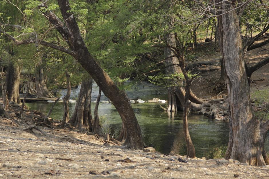 El río Lagartero nace entre el terreno rocoso hacia los cenotes de Candelaria. (Foto: Fredy Hernández/Soy502)
