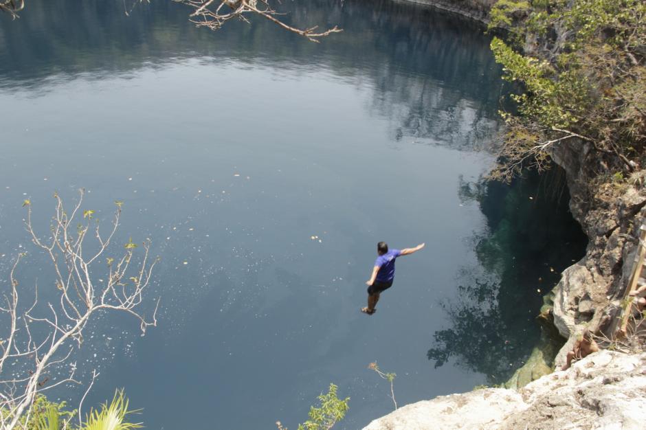 Los cenotes de Candelaria es uno de los mayores atractivos de Nentón. (Foto: Fredy Hernández/Soy502)