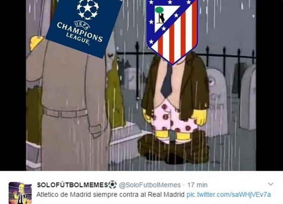 La UEFA y el uniforme del Atlético de Madrid. (Foto: Twitter)