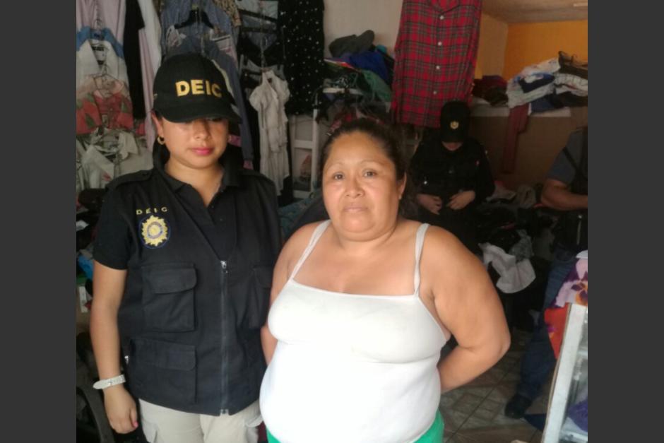 """La estructura de trata de personas era coordinada por Gilda Noemí Sicajá, alias """"doña Chiqui"""". (Foto: PNC)"""