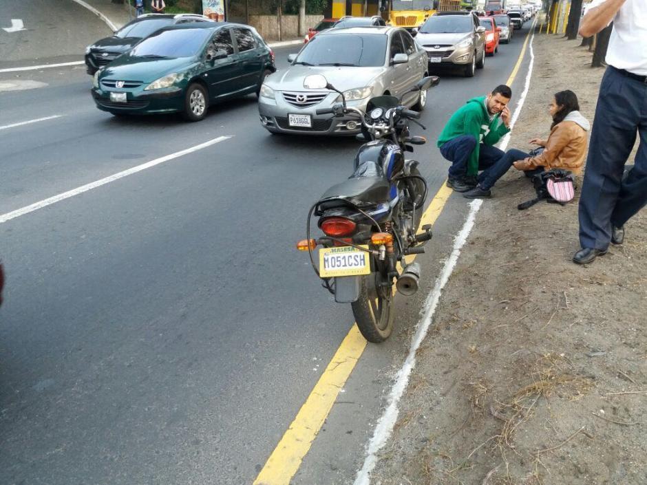El conductor y la pasajera de la moto resultaron heridos. (Foto: Amilcar Montejo/PMT)