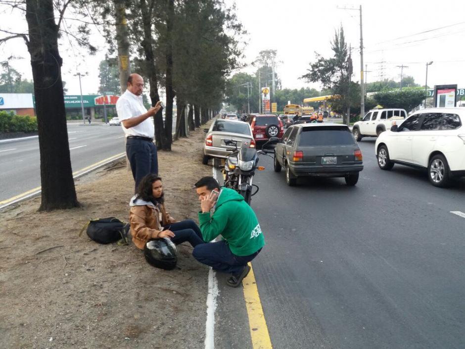 Las filas llegan a la colonia Centroamérica. (Foto: Amilcar Montejo/PMT)