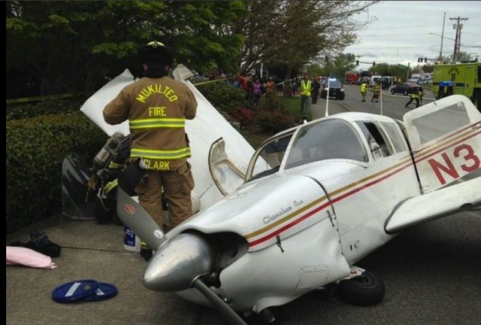 Del accidente ningún pasajero resultó herido. (Foto: abc13 Huston)
