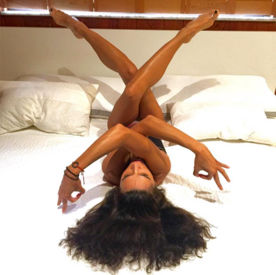 Yudy lleva un vida saludable, practica  e imparte clases de yoga. (Foto: Instagram)