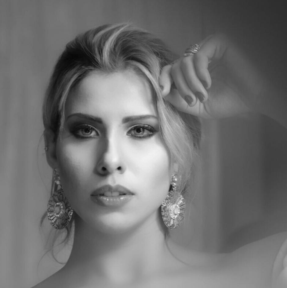 La modelo es brasileña y se encuentra en Guatemala como edecán. (Foto: cortesía José Castro)