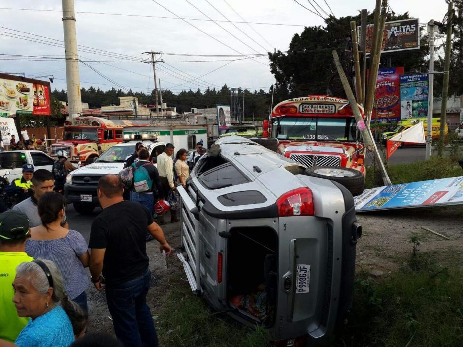 El incidente se produjo frente a un centro comercial de Villa Canales. (Foto: Dalia Santos)