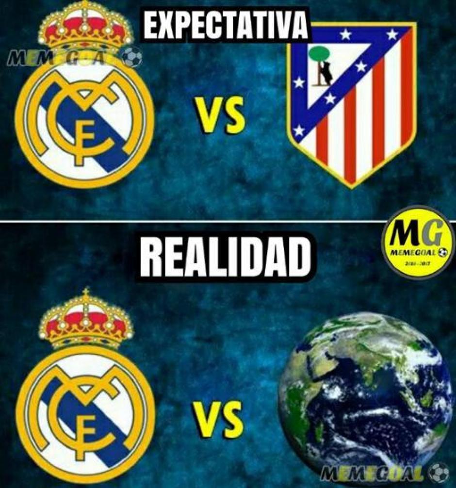 El duelo Atlético de Madrid - Real Madrid. (Foto: Twitter)