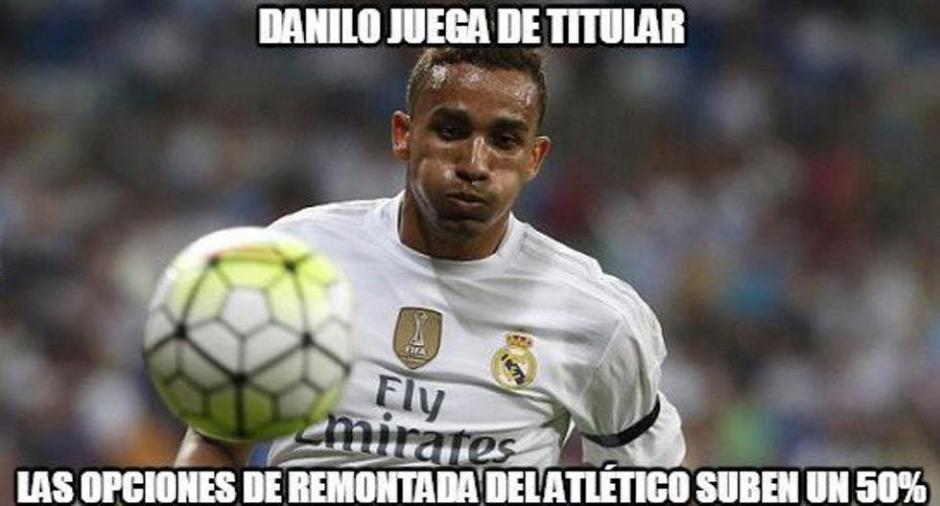 Danilo como titular del Real Madrid. (Foto: Twitter)