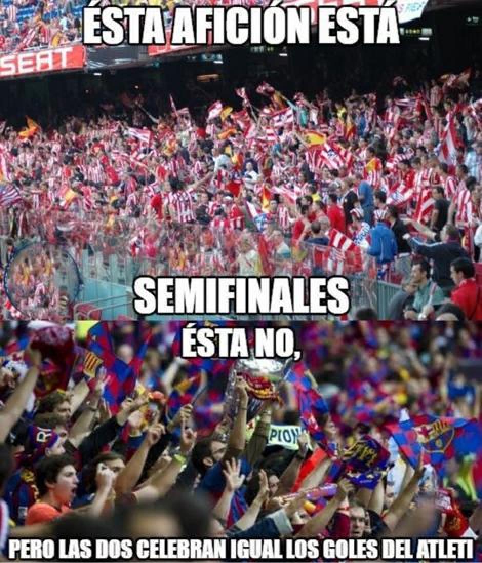 La afición de Barsa estuvo unos minutos con el Atlético de Madrid. (Foto: Twitter)