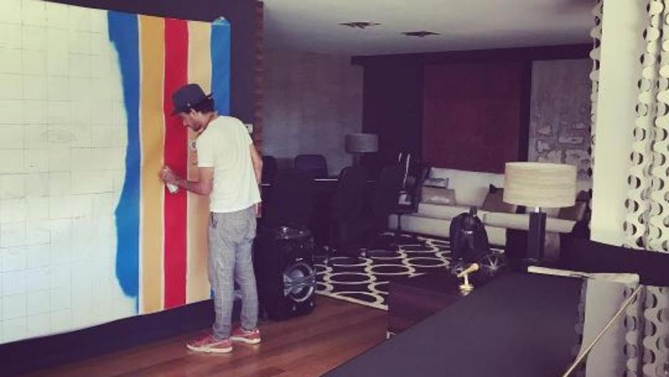 El impresionante mural que decora la casa de neymar en - Decora la casa ...