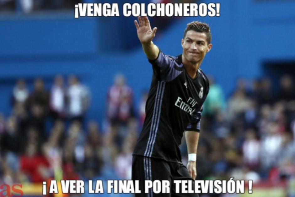 CR7 manda a los colchoneros a ver la final por TV. (Foto: Twitter)
