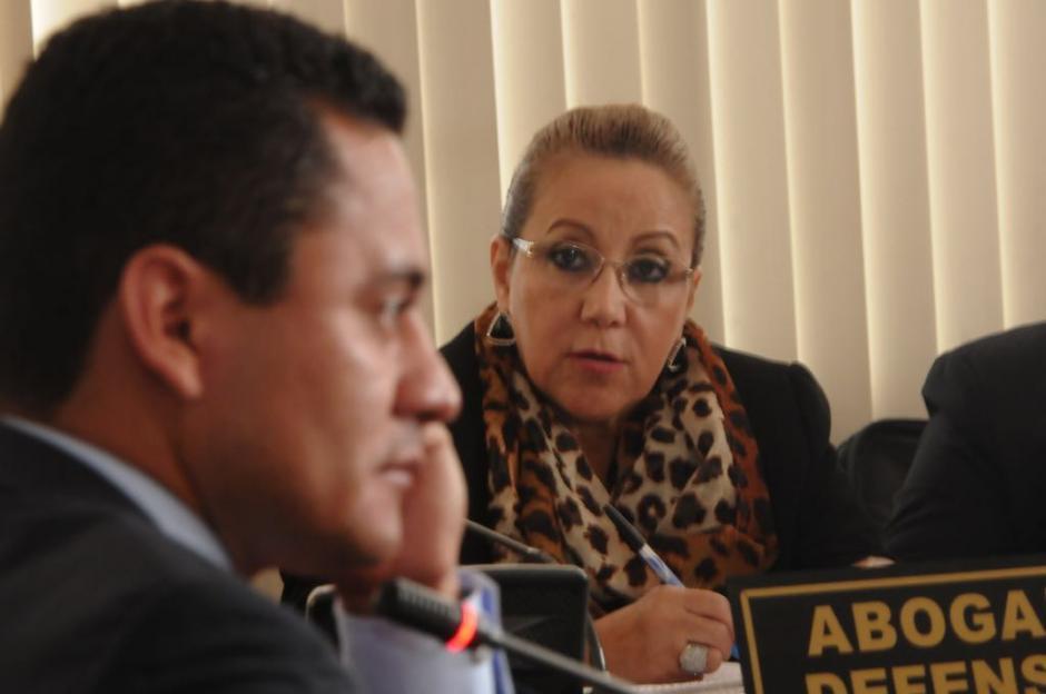 Blanca Stalling trató de acorralar a Ruano. (Foto: Jesús Alfonso/Soy502)
