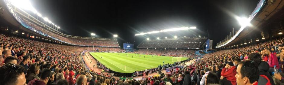 El estadio Vicente Calderón vibró cuando el arbitro marcó el final del partido y el conjunto merengue pasó a la final. (Foto: cortesía Pepsi)