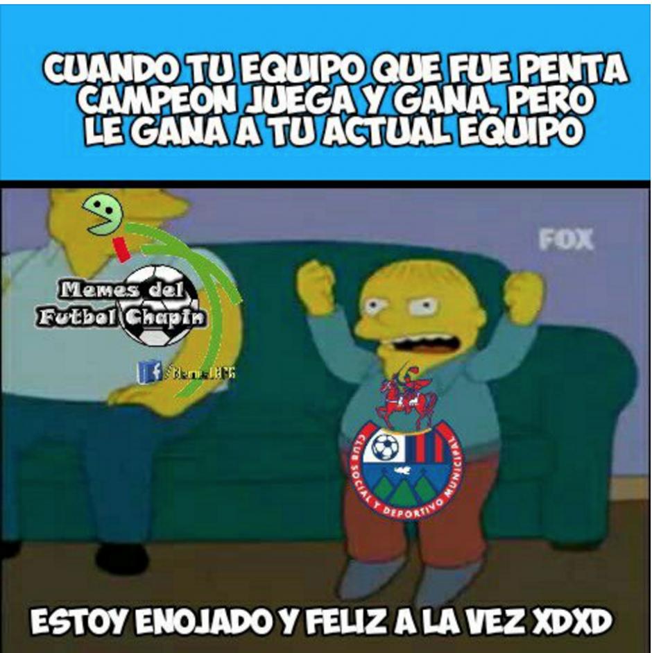 Los Rojos suspiraron por sus jugadores. (Foto: Memes del fútbol chapín)