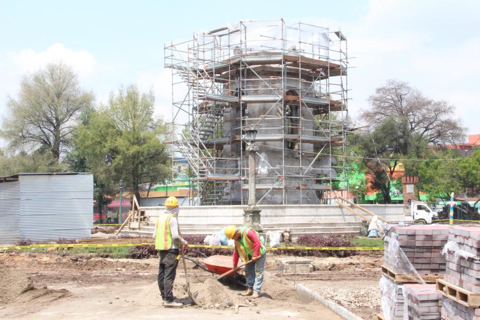 La remodelación de la Plaza España comenzó a mediados de abril. (Foto: Manuela Trillos/Soy502)