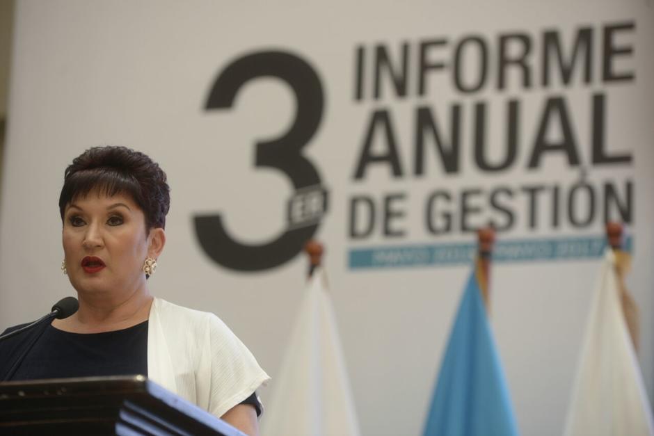 La fiscal general Thelma Aldana presentó su tercer informe de labores frente al Ministerio Público. (Foto: Wilder López/Soy502)