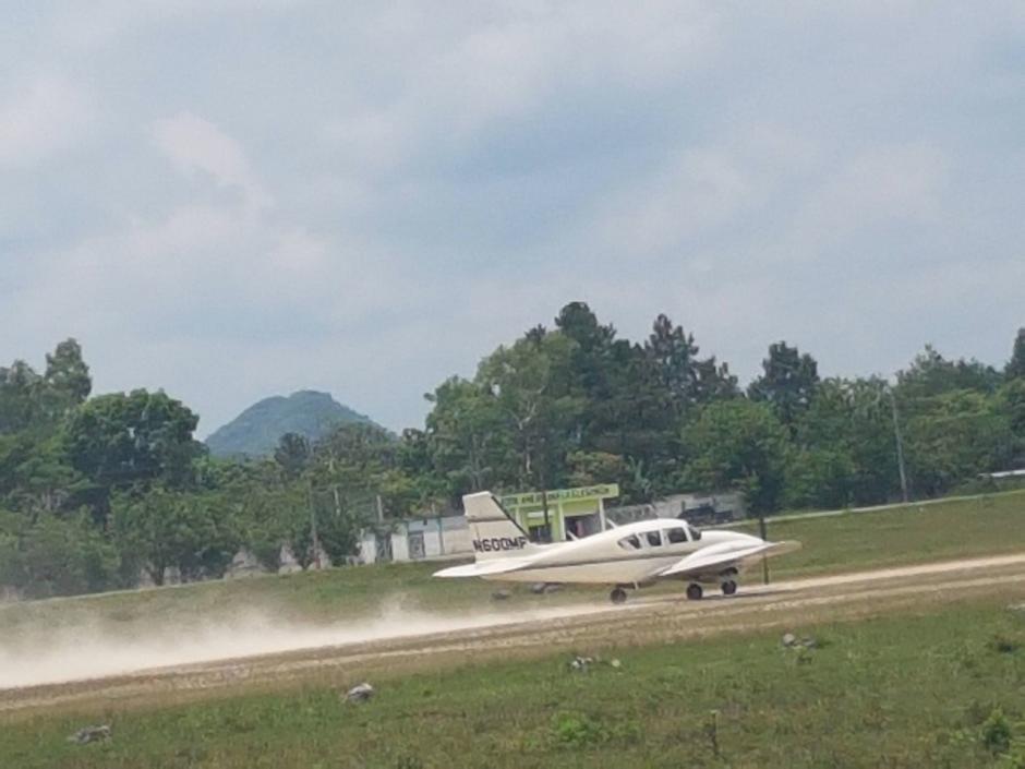Este fue el último momento de la avioneta antes de desaparecer. (Foto: Soy502)