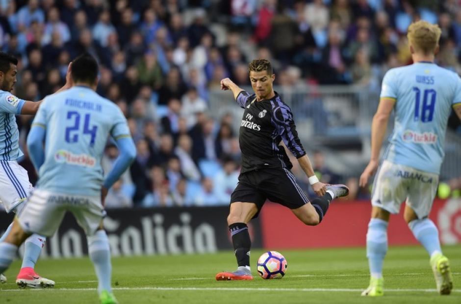 A pesar de la falla, el portugués anotó dos goles. (Foto: AFP)